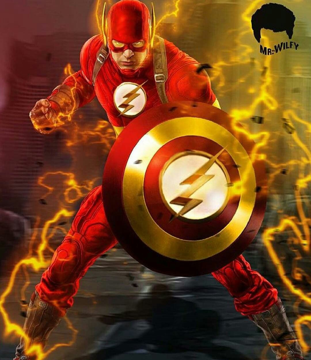 Captain flash a mashup of captain america and the flash - Super hero flash ...