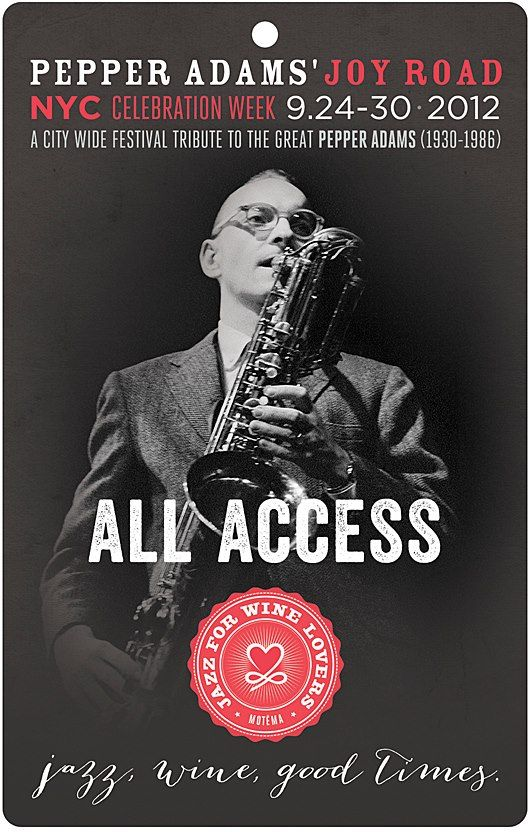 Get all access to #pepperadamsweek in NYC Sept 24-30! #jazz #sax