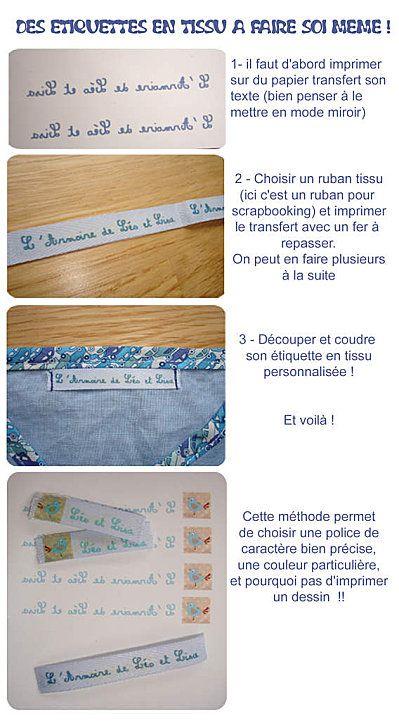 faire soi m me ses tiquettes en tissu facile bricolage enfant tiquettes en tissu. Black Bedroom Furniture Sets. Home Design Ideas