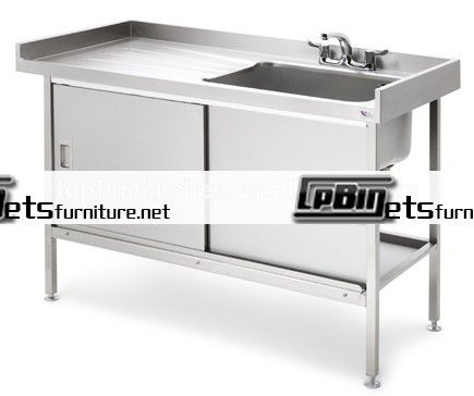 kitchen sink cabinet ideas metal base stainless steel single bowl under shelf liner above