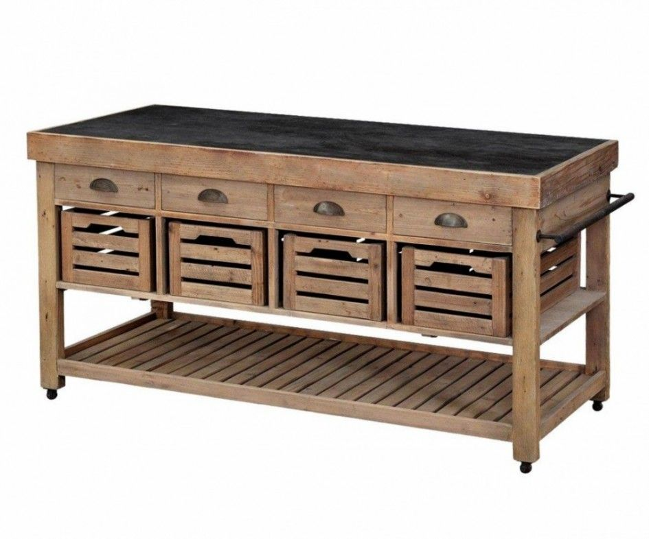 Exceptional Tremendous Oak Kitchen Island Trolley With Recycled Pallet Cabinets And  Antique Brass Cup Drawer Pulls Using Black Wood Countertops Also Slatted  Shelving ...