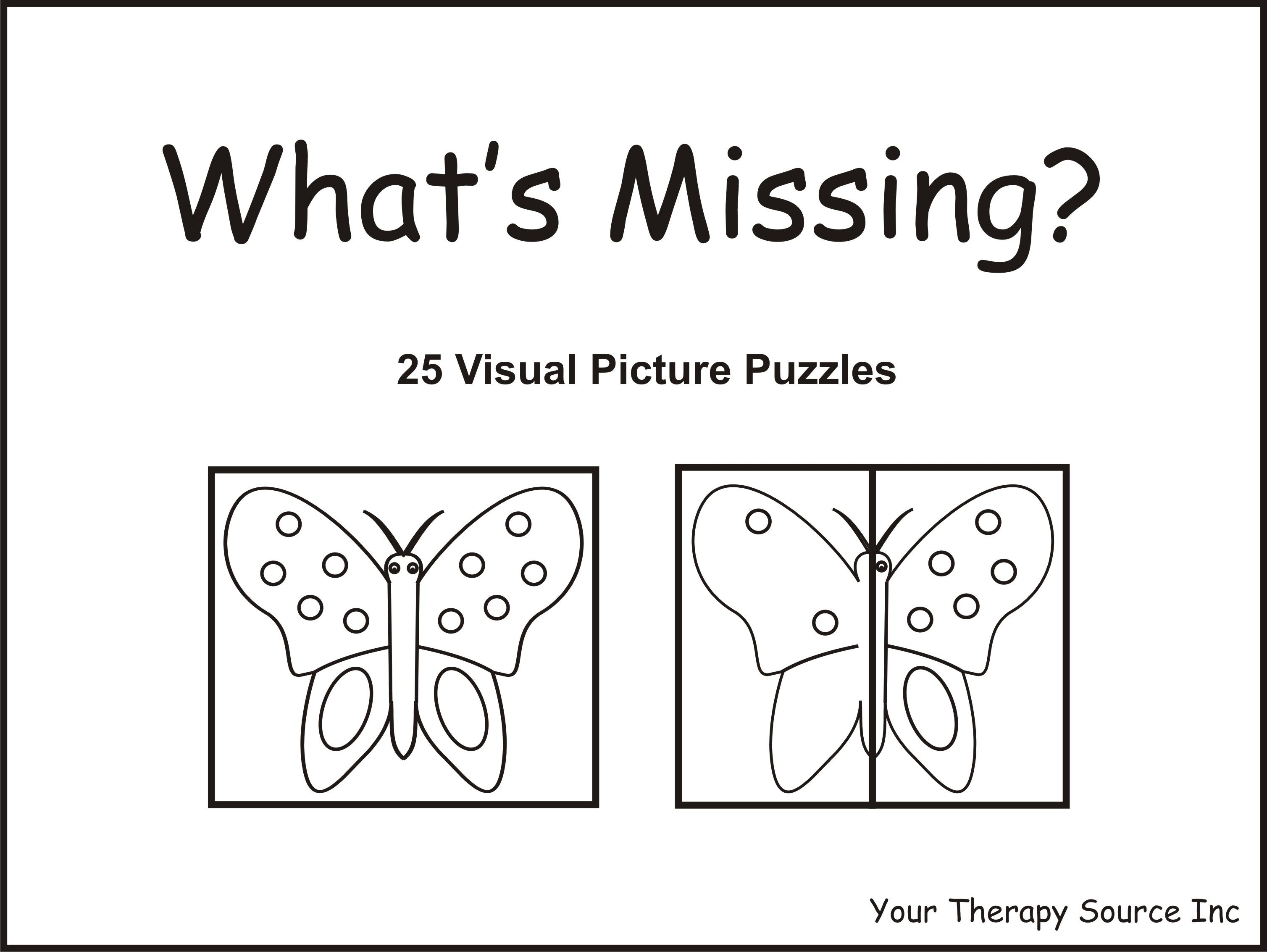 Whats Missing Worksheets – Visual Memory Worksheets