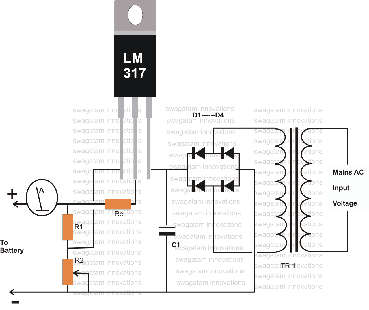 12 Volt Battery Charger Diagram Battery Charger Circuit Circuit Diagram Simple Electronics