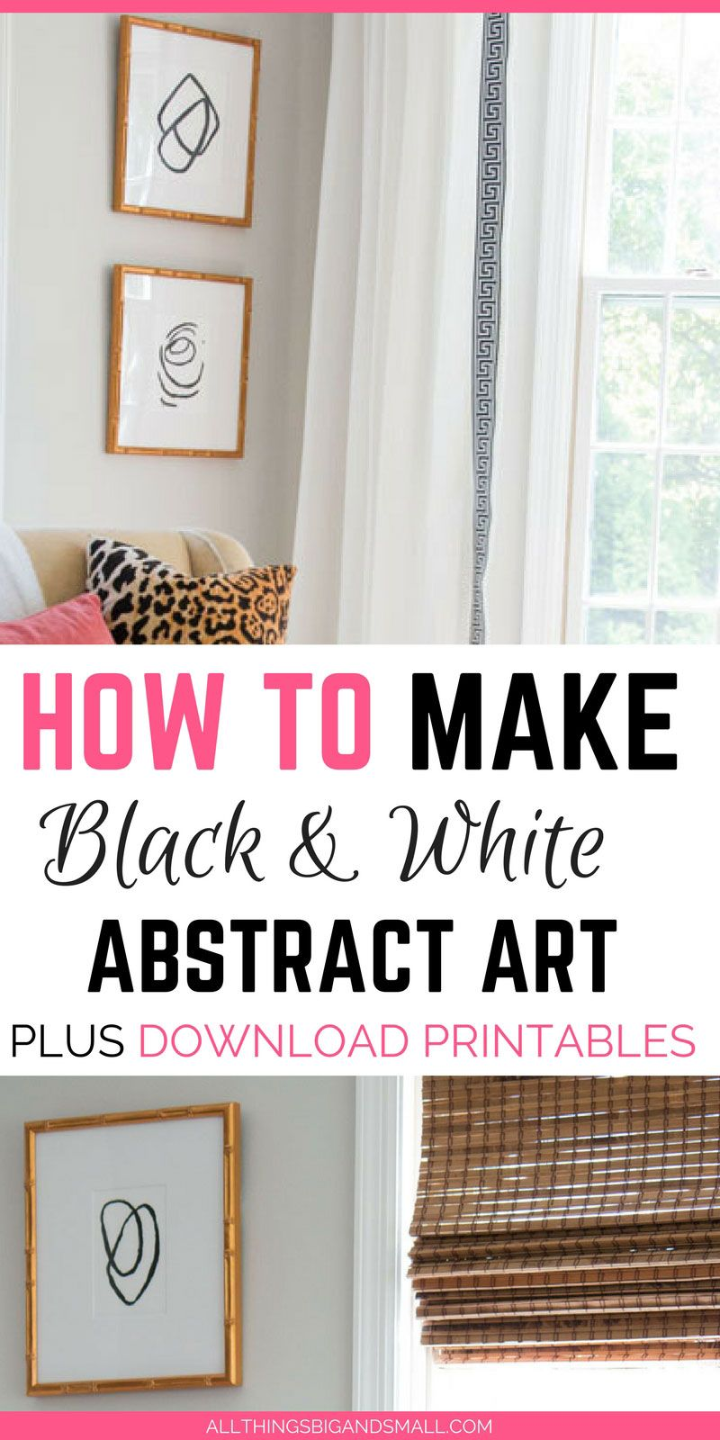 Easiest abstract black and white art that anyone can do plus