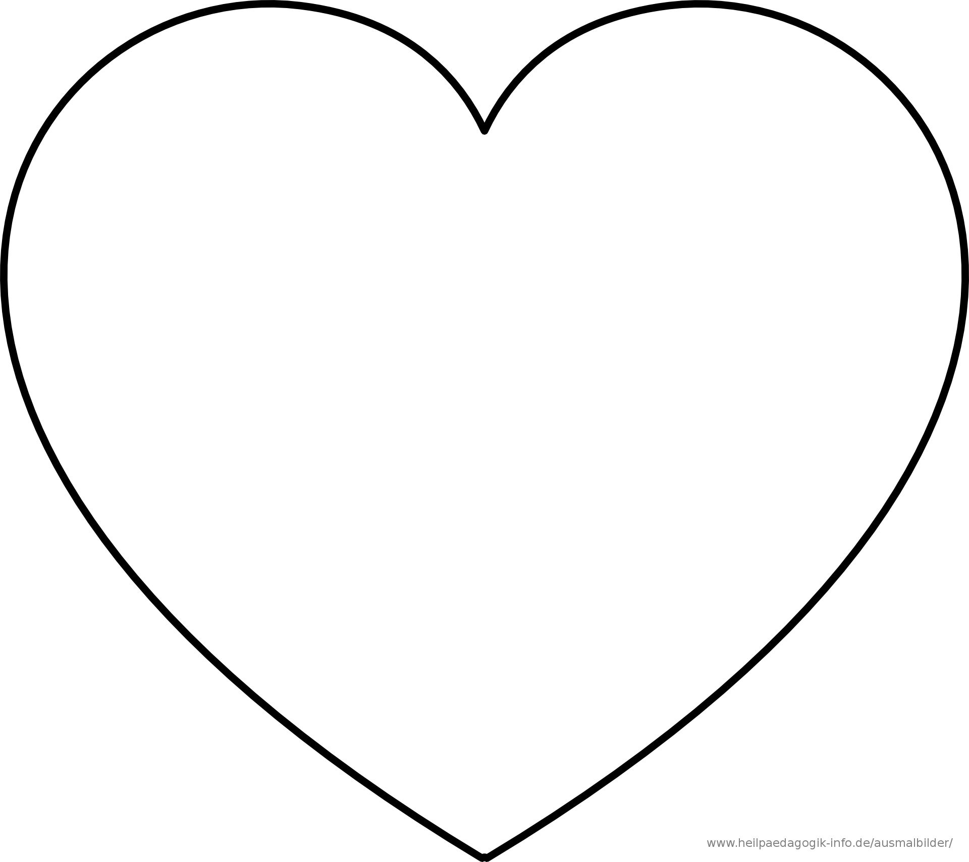 Malvorlagen Herzen Kostenlos  Herz ausmalbild, Herz vorlage