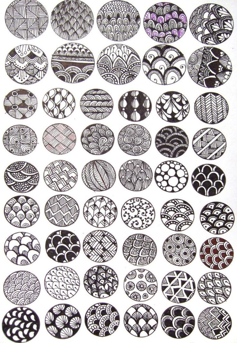 zentangle diy ink bubbles tutorial by on deviantart this could be fun to turn into a collaborative mobile with each child designing one disk