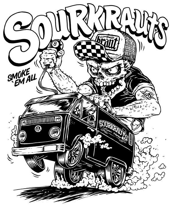 sourkrauts shirt design by house of phidias via behance neat  sourkrauts shirt design by house of phidias via behance cartoon drawings car drawings