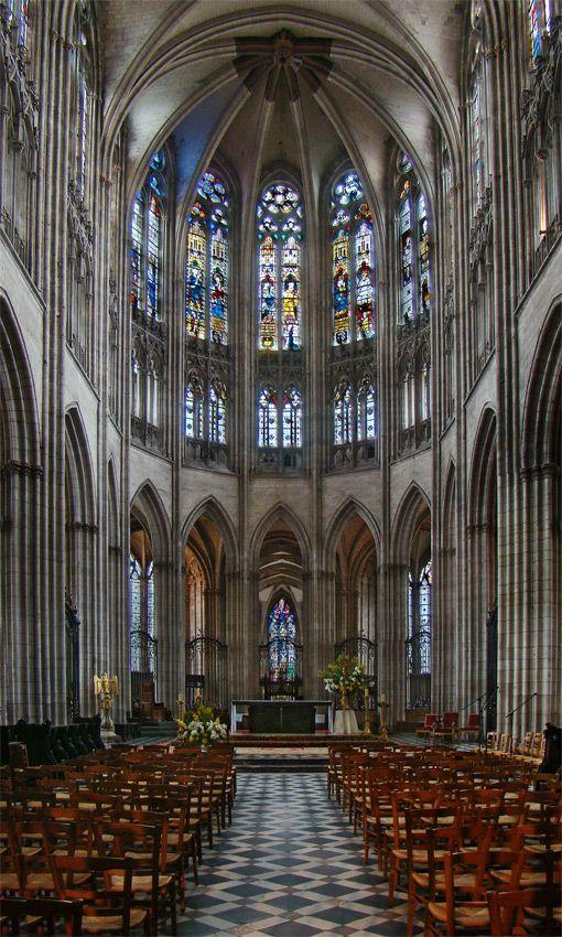 (Eure) Evreux Cathédrale NotreDame d'Évreux la nef