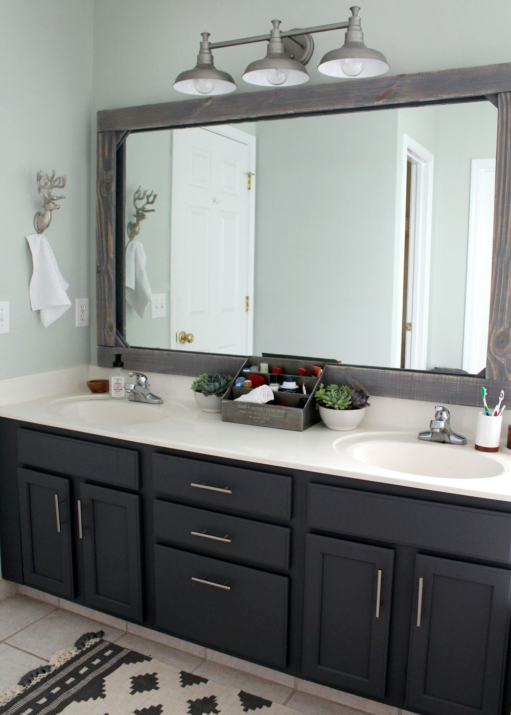 Bathroom Remodel Mirrors $300 master bathroom remodel | master bathrooms, small basement
