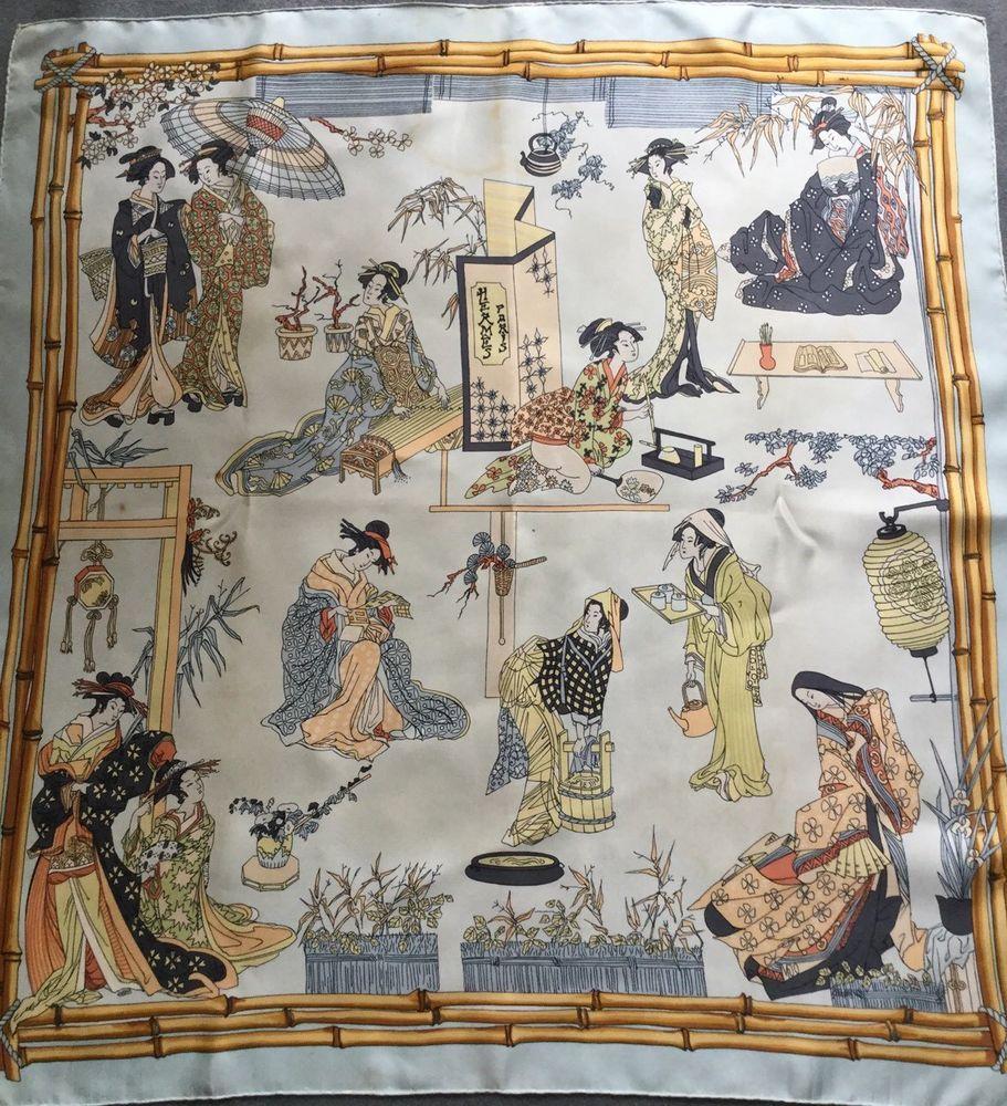 HERMES CARRÉ GEISHA OU JAPON RARISSIME ( Introuvable)   Vêtements,  accessoires, Femmes  accessoires, Echarpes, châles   eBay! cc3ae19f575
