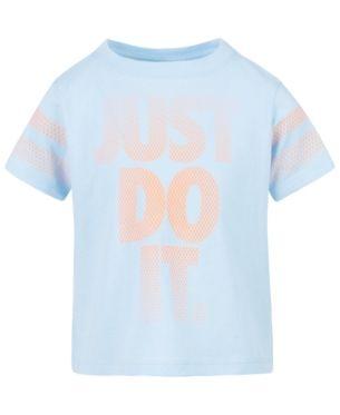 d77744e4 Nike Little Girls Just Do It-Print Cotton T-Shirt - Blue 6X ...