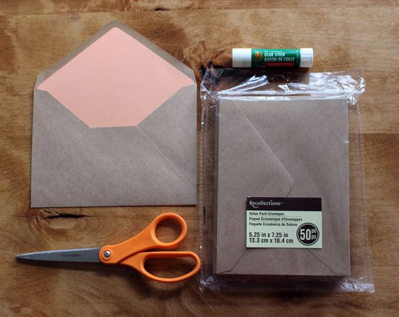 A Euro Flap Envelope Liner Template For Use With Michaels Brand