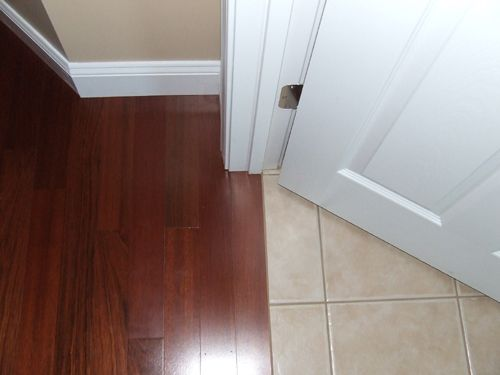 Hardwood To Tile Transition How To Make The Transition Flooring Modern Flooring Diy Floor Installation