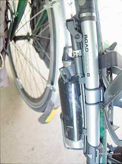 Picture Of Frame Mounted Bike Pump For Bicycle Touring And Bike