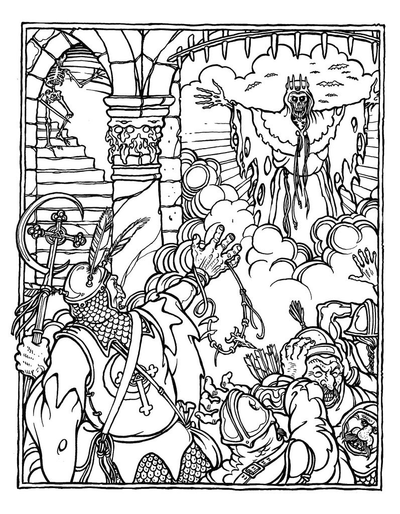 The Official Advanced Dungeons And Dragons Coloring Book Illustrated By Greg Irons 1979 Dragon Coloring Page Coloring Books Coloring Pages