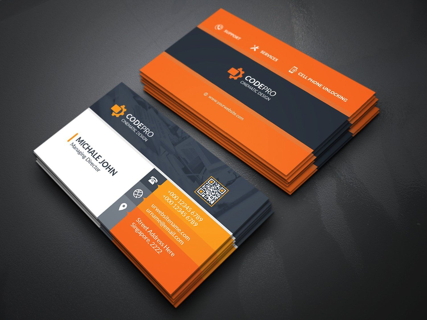 what is business card in mobile