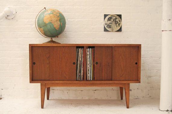 Mid Century Record Cabinet / Credenza | APT | Pinterest | Record ...