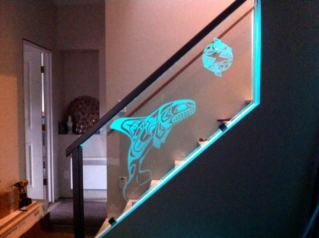 Best Stair Panel With Lighted Hand Rail Window Glass Design 400 x 300