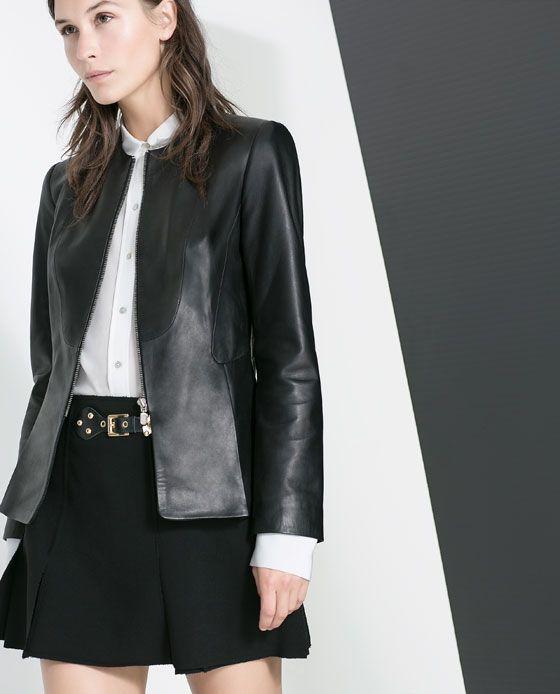 3f28a969e0f3 ZARA - MUJER - BLAZER PIEL | Street Style | Zara, Chaquetas y Ropa