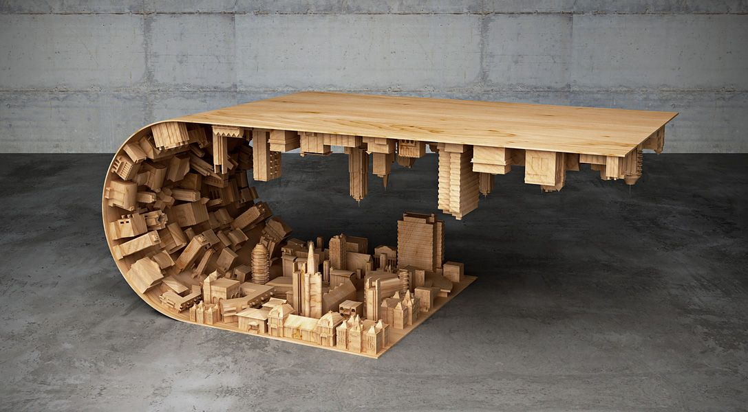 Inception Inspired Wave City Coffee Table 1