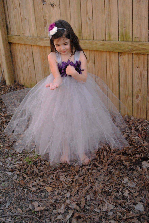 Flower girl wedding tutu dress etsy flower girl