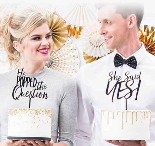 Unique wedding cake topper from $12.98