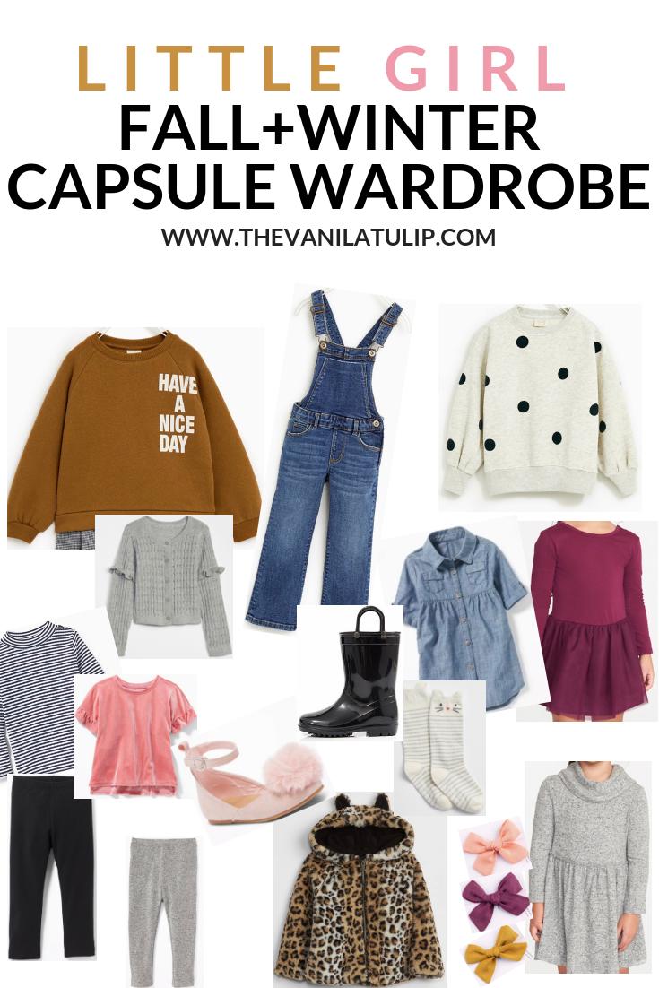1616458e4c19 Little Girl Fall and Winter Capsule Wardrobe