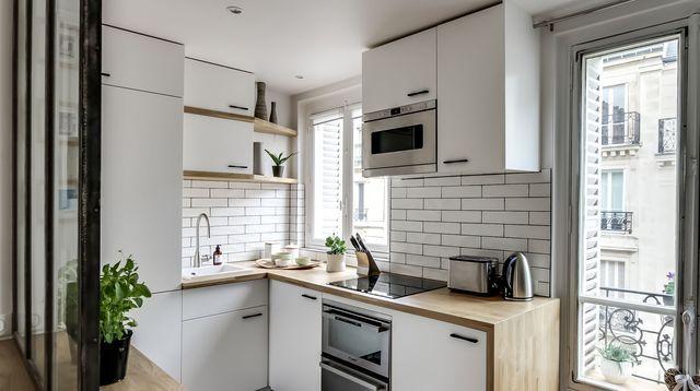 10 studios ultra d co et fonctionnels studios espaces for Amenager une petite cuisine ouverte sur salon