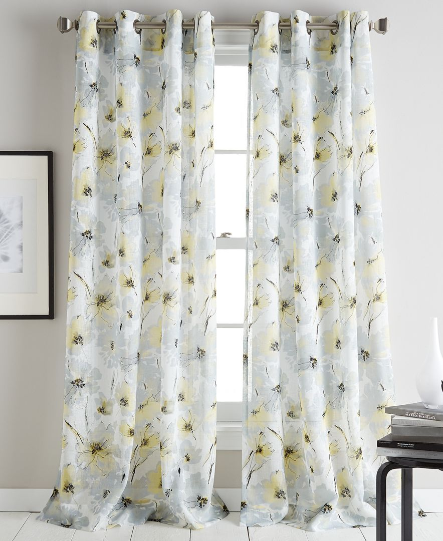 Modern Bloom 50 X 63 Curtain Panel In 2019 Decorating Ideas