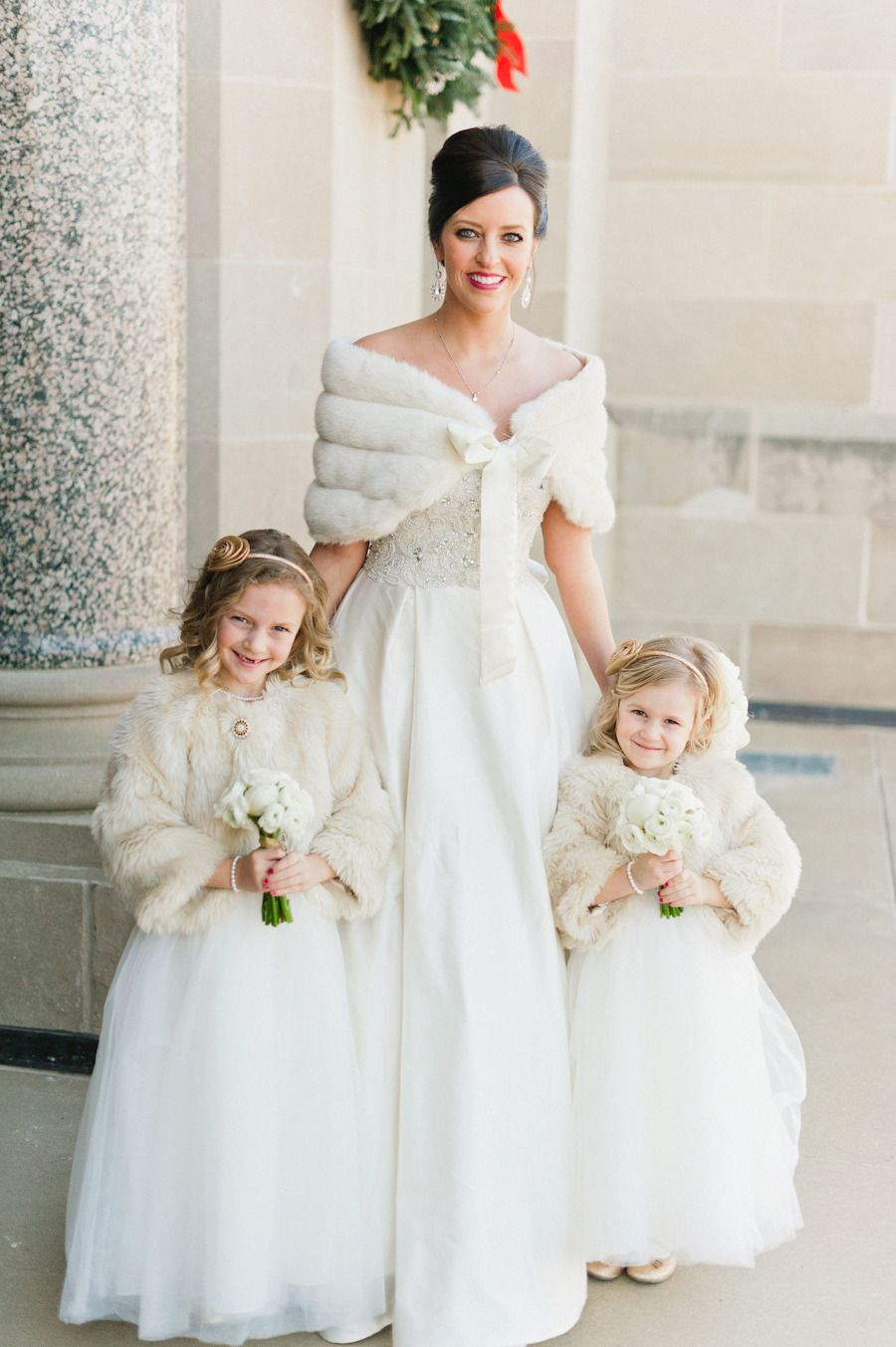 Winter Wedding Faux Fur Warm & Pretty. Love it for the