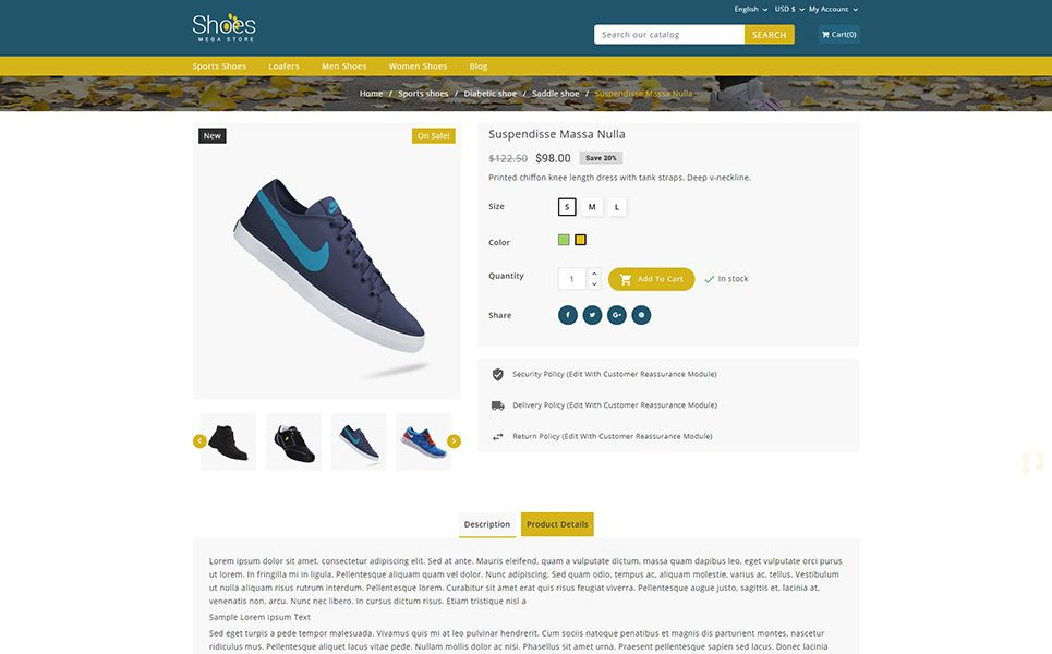 Shoes Mega Store PrestaShop Theme