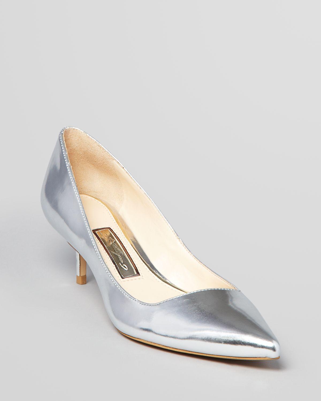 0ff3c1fce8c1 Silver Shoes Kitten Heel