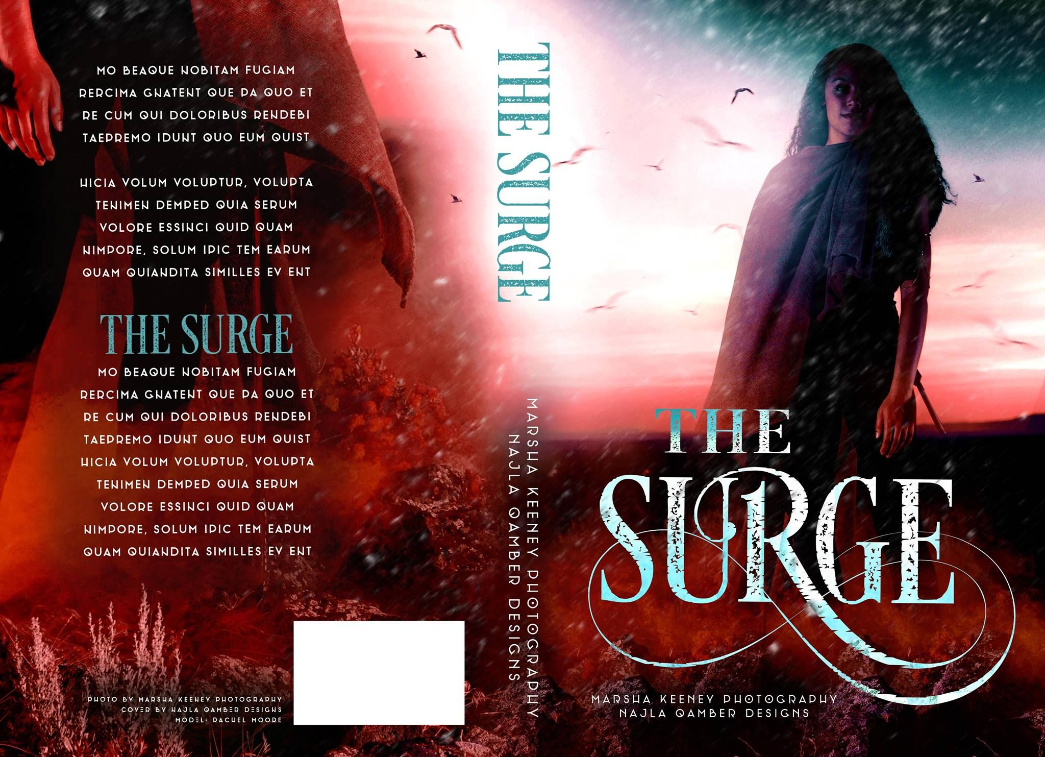 ~ Exclusive Premade ~ The Surge Photo by MK Photography Cover Design by Najla Qamber Designs Model: Rachel Moore  Ebook Only = $125 - $150 Ebook + Paperback = $150 - $175  For inquires or to purchase:  http://www.najlaqamberdesigns.com/prices-to-purchase.html