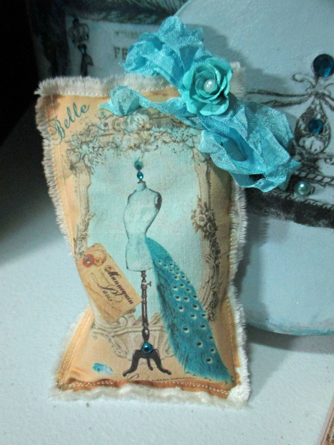 Caribbean Blue Corset Lavender Sachet/Dried Lavender/Drawer Sachet/Personal Gift/Wedding Shower Favor/Party Favor/Bridal Shower Gift by Heartmadelinensgifts on Etsy