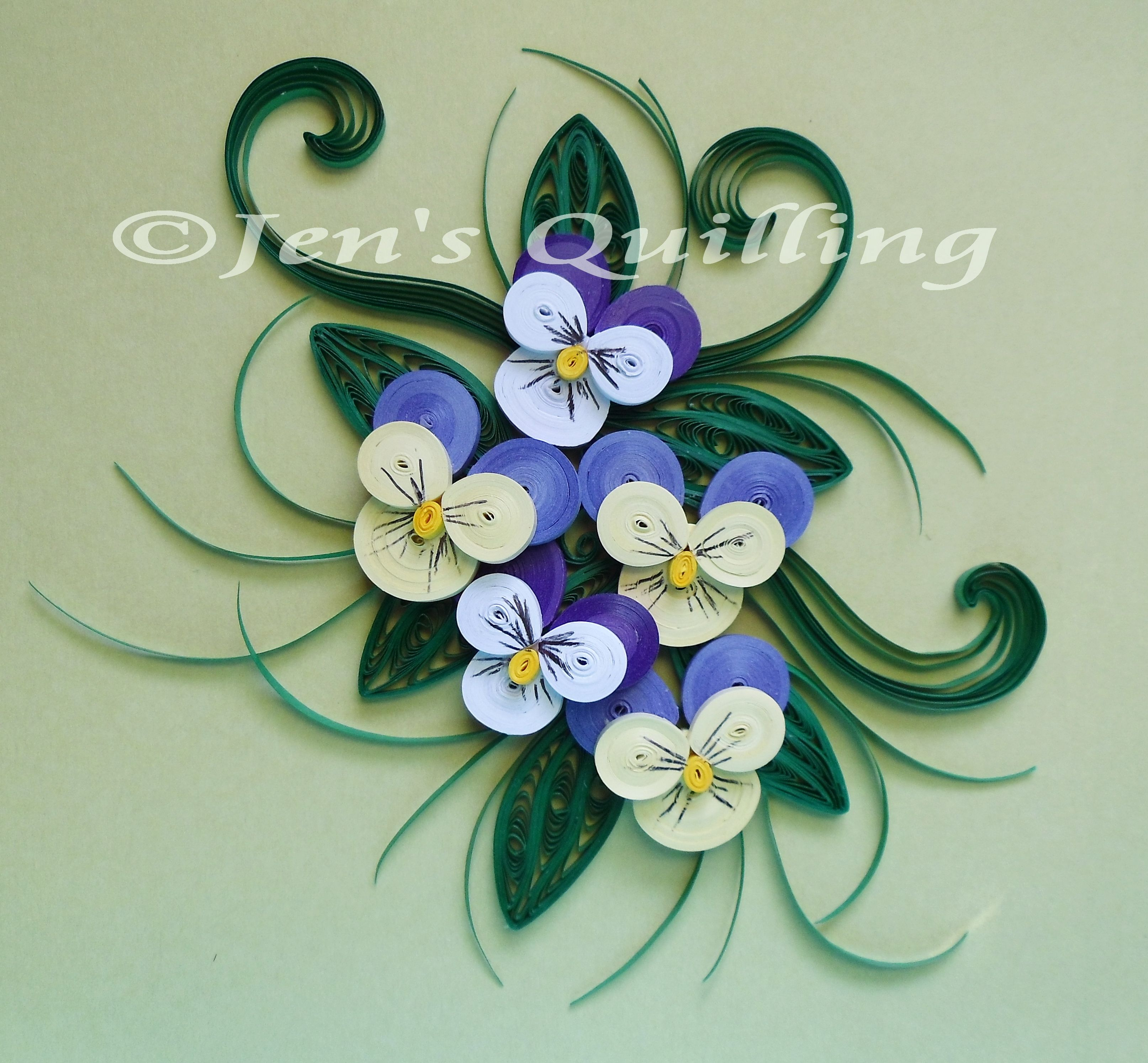 Quilled Violas Quilling Designs Quilling Work Quilling Craft