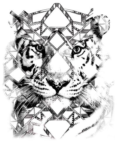 Aztec lion art print by itzpretti society6 its love for Aztec lion tattoo meaning