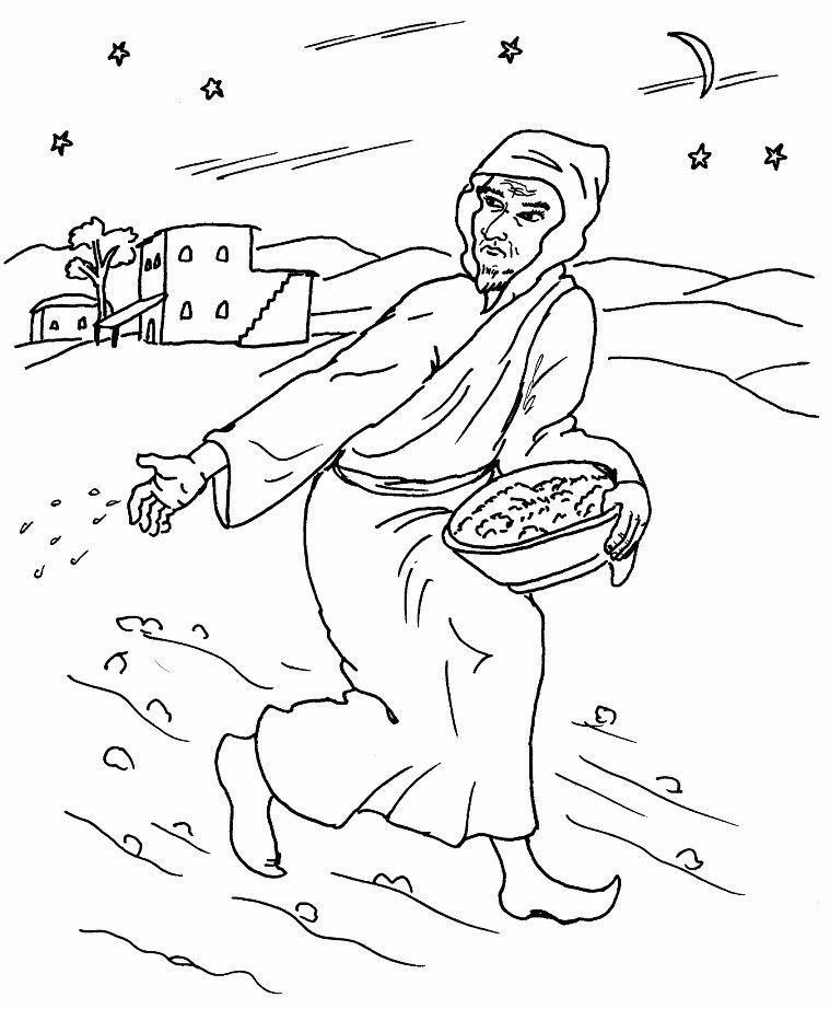 bible parable coloring pages  The Parable of the Weeds coloring