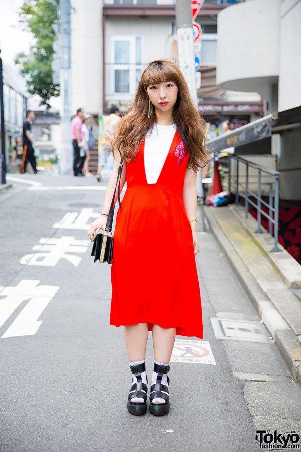 9b7dac6e1a7 Harajuku Girl in Red Toga Dress