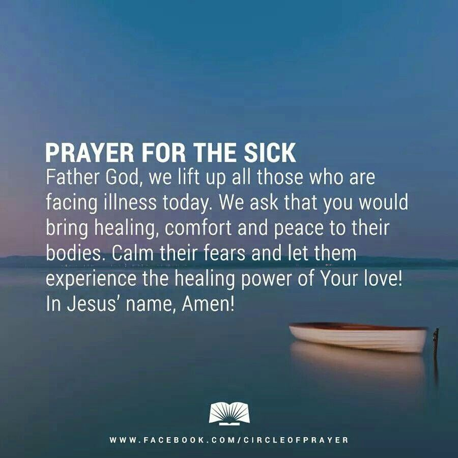 Amen... Prayer for healing the sick, Prayer for the sick