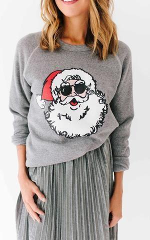 4d1b9dfd74 Ily Couture Santa Sweatshirt - Grey