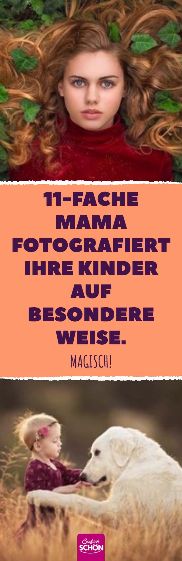 11-fache Mama fotografiert ihre Kinder auf besondere Weise.