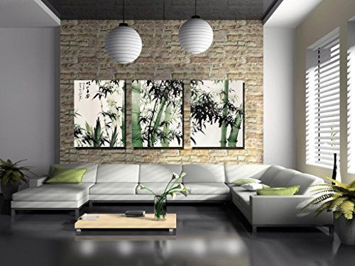 Spirit Up Art-Large Chinese Painting of Bamboo on Canvas Print