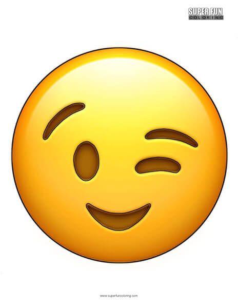 Wink Emoji Coloring Sheet Papel De Parede Tumblr Papeis De Parede Desenhos