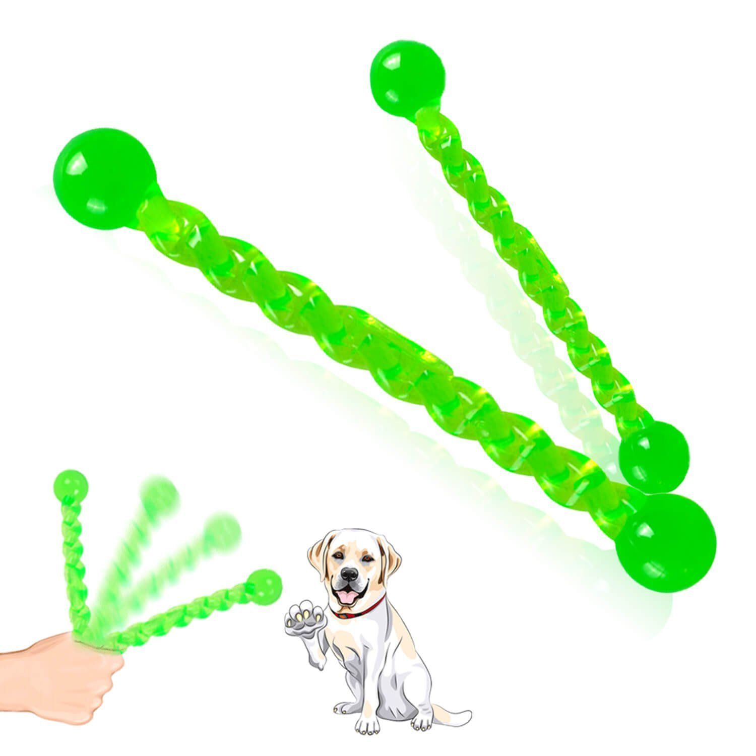 Dog Toy Fetch Sticks Chew Rubber Stick Dog Interactive Stick For