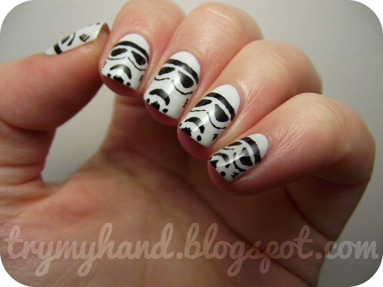 stormtrooper nail art - Google Search | I\'m a Nerd | Pinterest