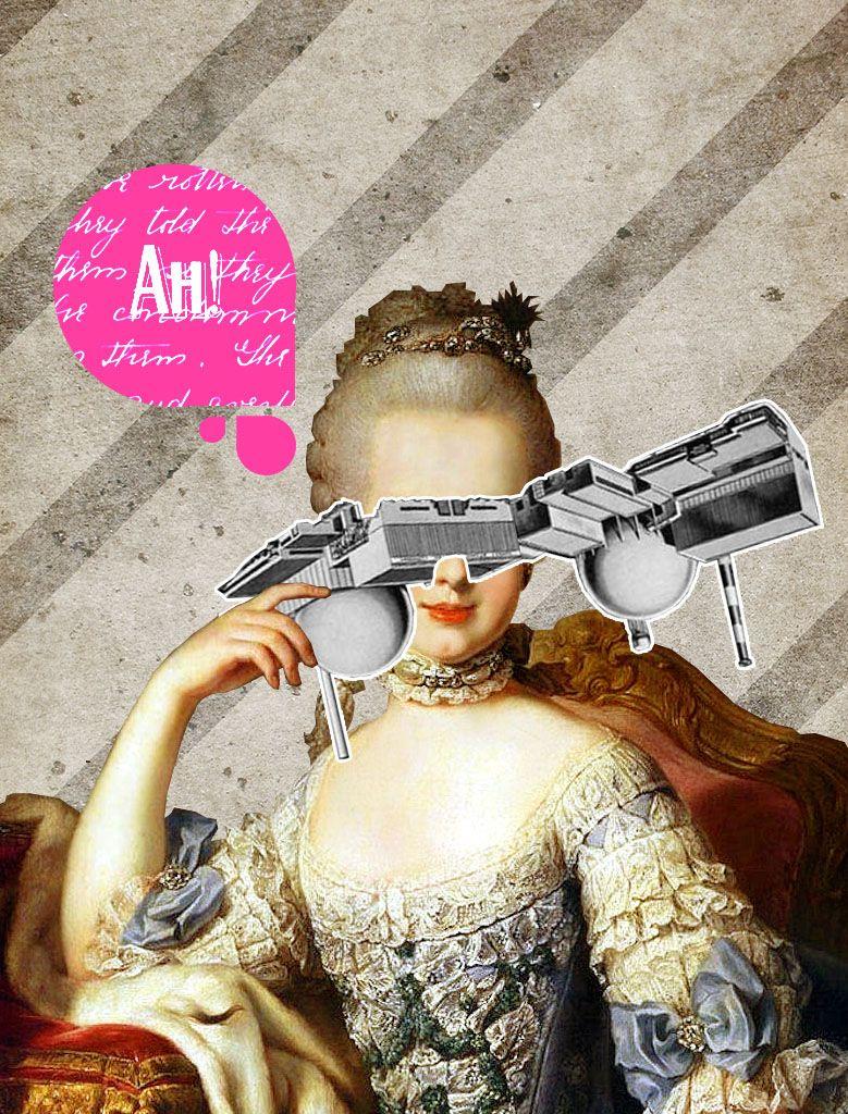 03/10/14 Maria Antonietta #collage #antonieta #rococo #baroque #art #diacolas #diascontados #illustration by Gustavo Solana