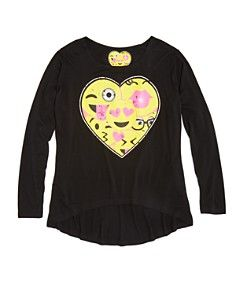 So Nikki… Girls' Emoji Heart Tee, Sizes S-XL - 100% Bloomingdale's Exclusive