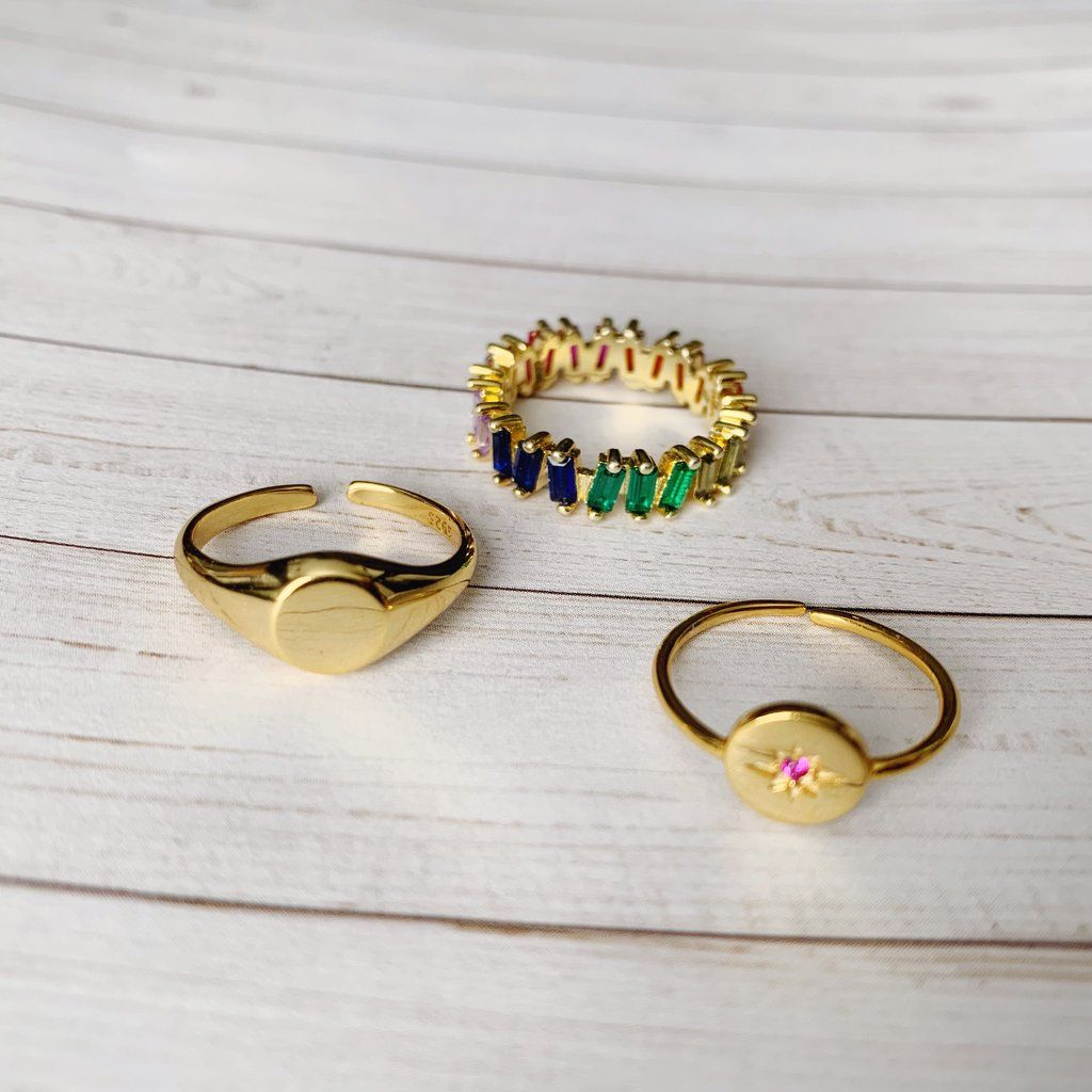 Starburst Ring Harper & Jewels Gold diamond wedding