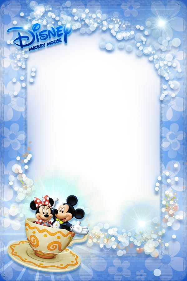 Mickey Mouse and Minnie photo frame for kids | encadrement ...