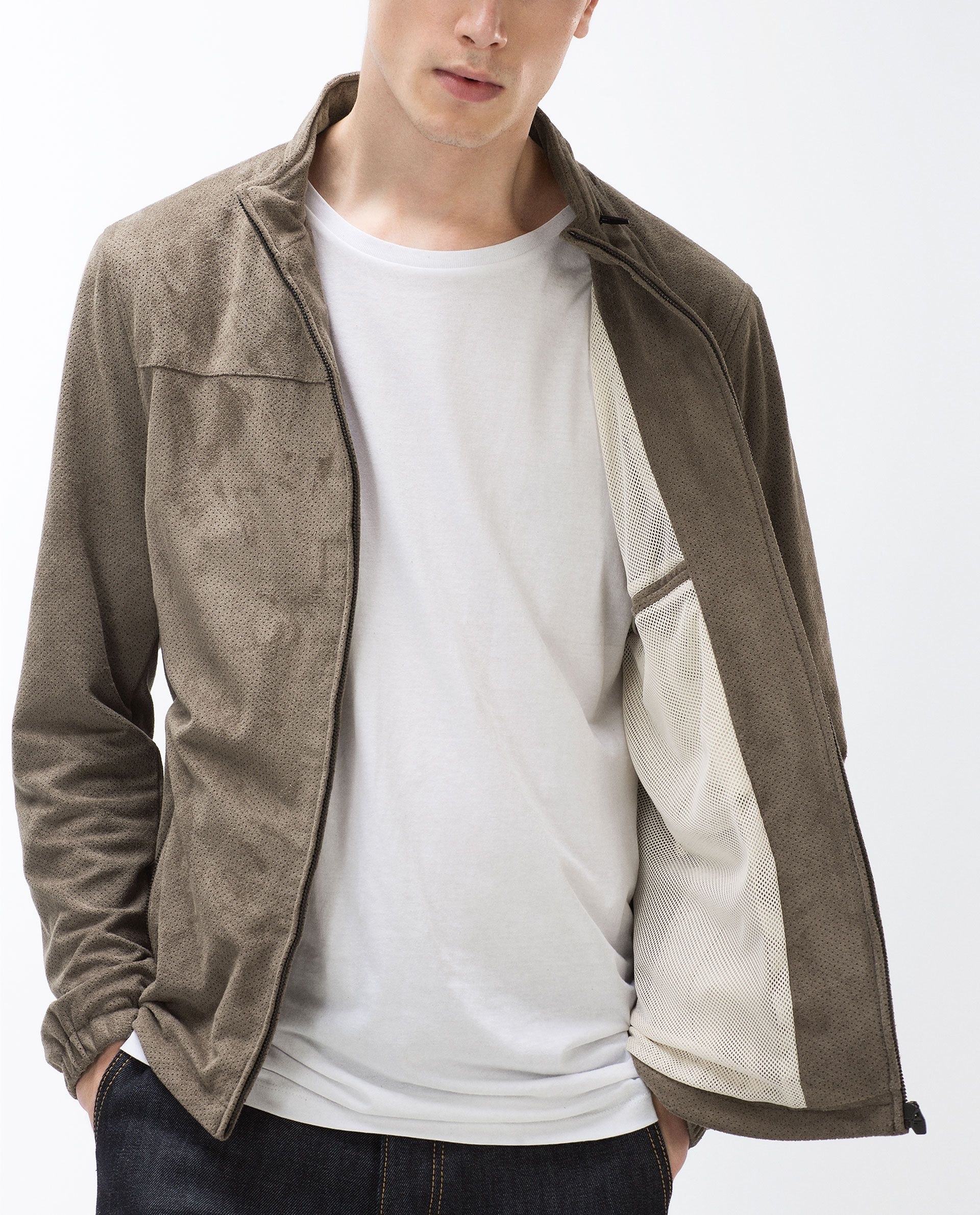 Perforated Faux Suede Jacket New In Man Collection Ss16 Outerwear Sale Faux Suede Jacket Jackets